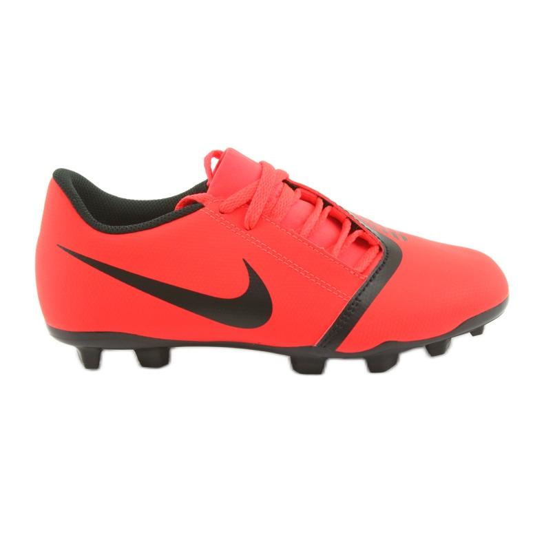 Nike Phantom Venom Clube Fg Jr AO0396-600 sapatos de futebol vermelho