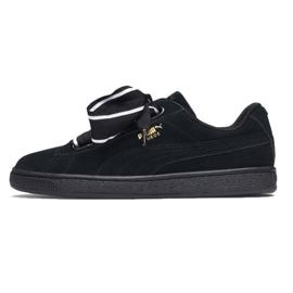 Sapatos Puma Camurça Coração Cetim Ii W 364084 01 preto