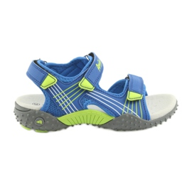 Sandałki chłopięce American Club HL16 azul / limão