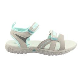 Sandálias para menina American Club HL14 cinza / menta