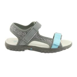 Sandálias com couro inserir American Club RL10 cinza / azul