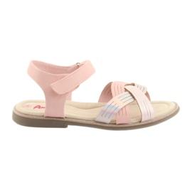Sandálias de metal meninas American Club GC23 -de-rosa