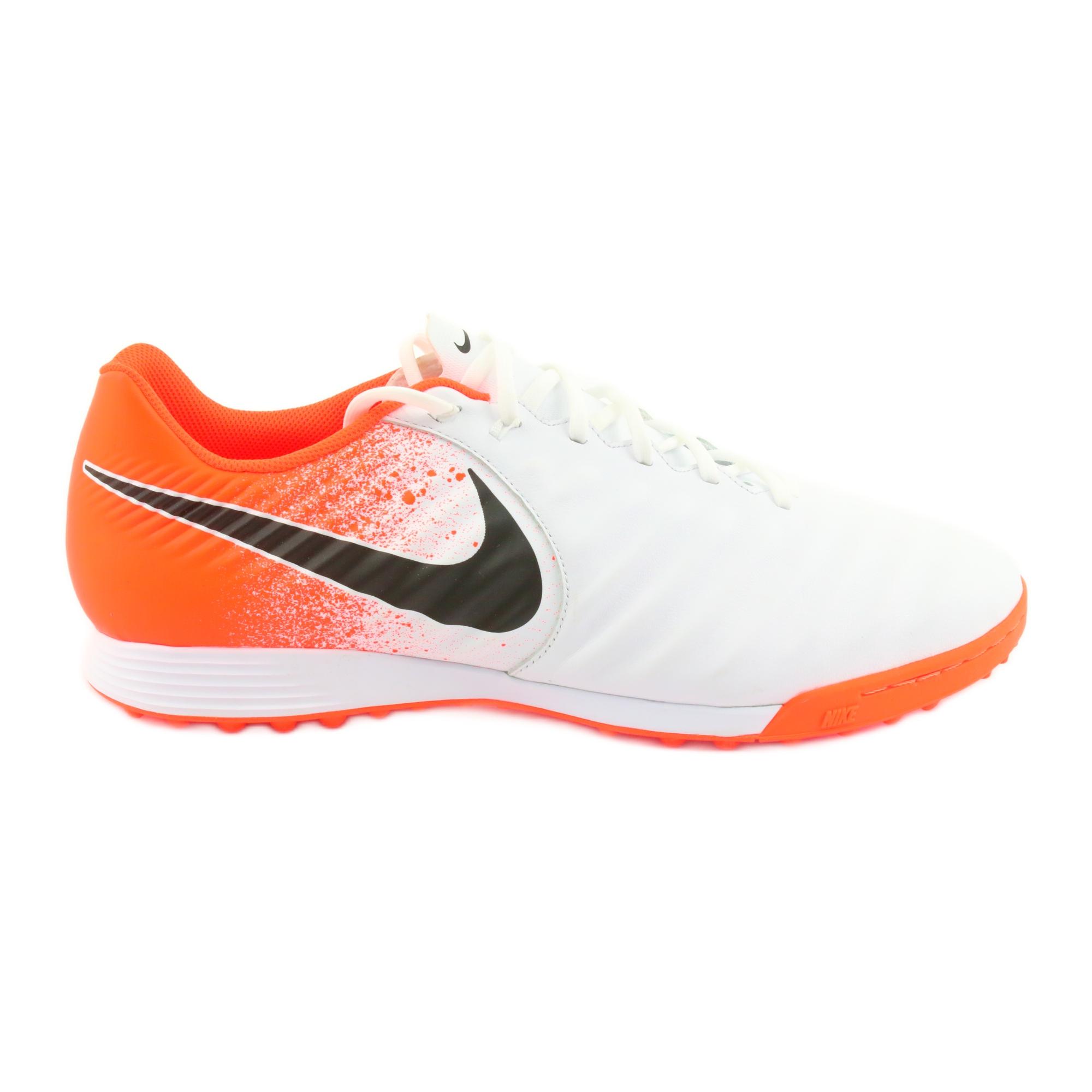 Sapatos de futebol Nike Tiempo LegendX 7 Academia Tf M AH7243 118 branco branco, laranja