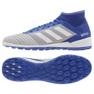 Chuteiras de futebol adidas Predator 19.3 Tf M BC0555 azul, cinza / prata azul