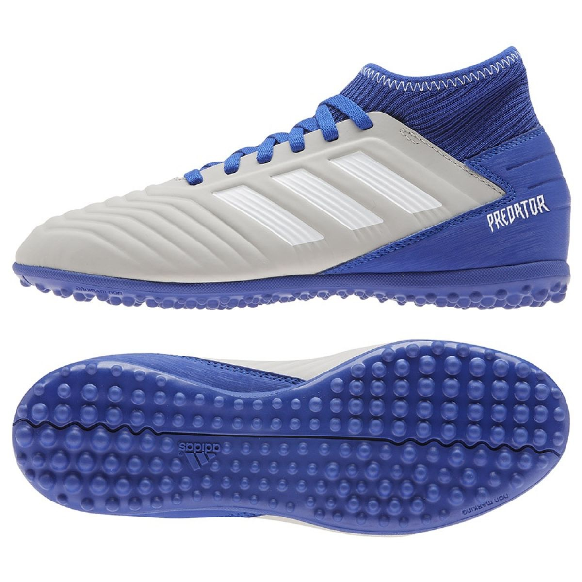 Chuteiras de futebol adidas Predator 19.3 Tf Jr CM8548 azul branco, azul