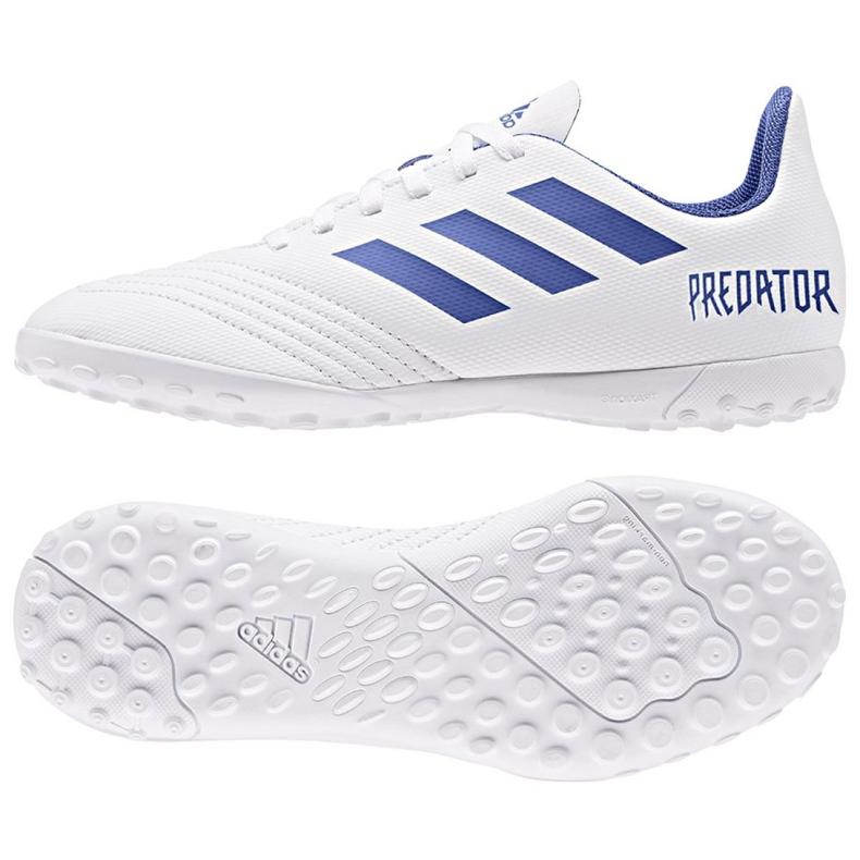 Chuteiras de futebol adidas Predator 19.4 Tf Jr CM8558 branco branco, azul