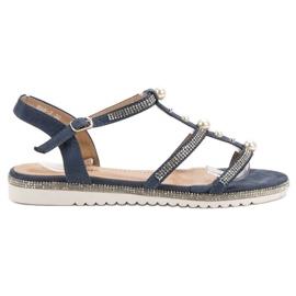 GUAPISSIMA Sandálias Com Pérolas azul