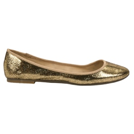 SHELOVET Bailarinas de ouro amarelo
