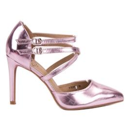 Kylie -de-rosa Studs de moda brilhante