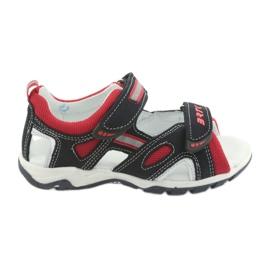 Sandálias meninos nabos Bartek 16176 marinha-vermelho
