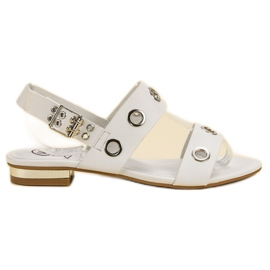 Kylie branco Sandálias Brancas Casuais