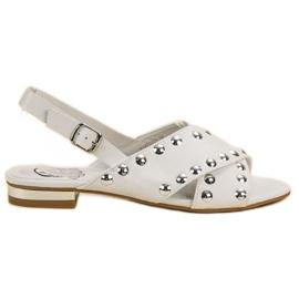 Kylie branco Sandálias Brancas Apertadas Com Uma Fivela