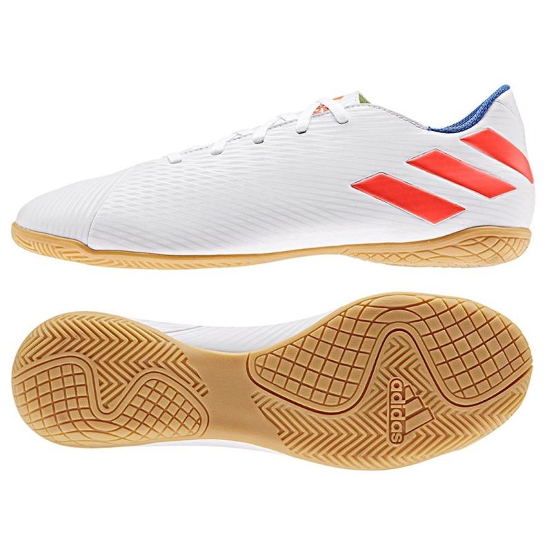 Sapatos de interior adidas Nemeziz Messi 19.4 Em M F34550 branco branco
