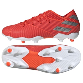 Chuteiras de futebol adidas Nemeziz 19.1 Fg Jr F99955 vermelho vermelho