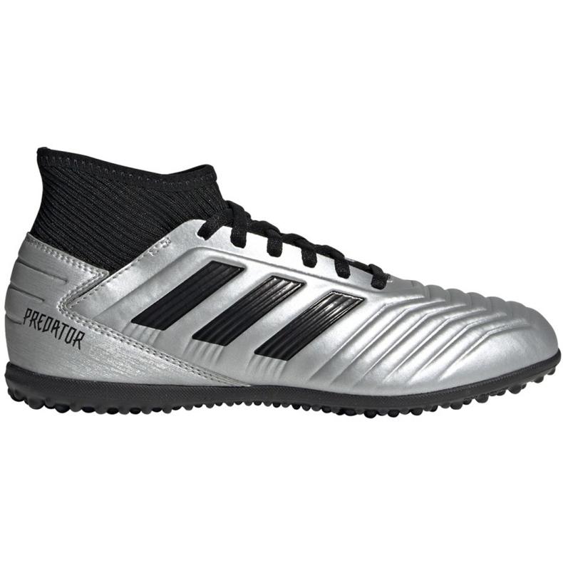 Chuteiras de futebol adidas Predator 19.3 Tf Jr G25802 prata cinza prata