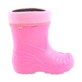 -de-rosa Sapatos infantis Befado galosh pink 162
