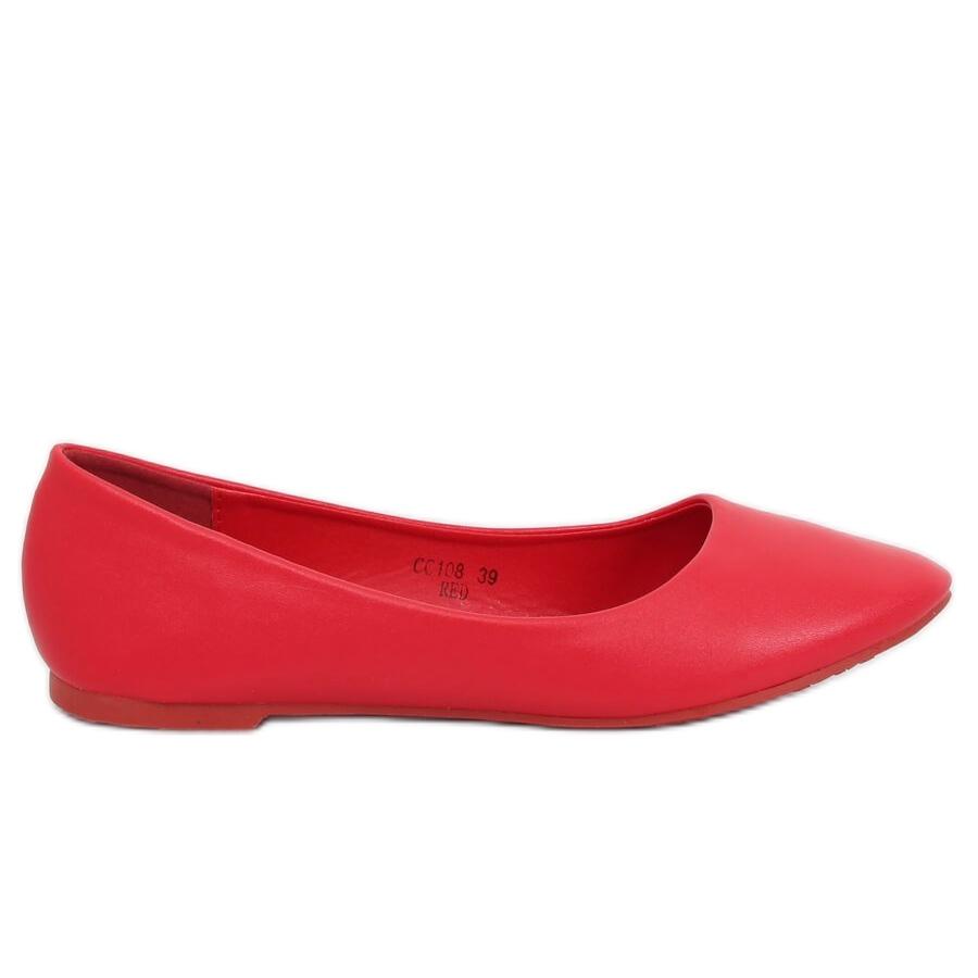 Bailarinas das mulheres vermelhas CC108 Vermelho