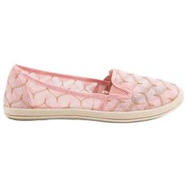 Sapatilhas Cor-de-rosa Escorregar Em VICES
