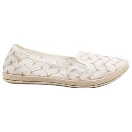 Branco Sapatilhas Brancas Escorregar Em VICES