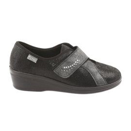 Sapatos femininos Befado pu 032D002 preto