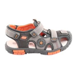 American Club Sapatos Sandalka com uma inserção de couro DR02 americana