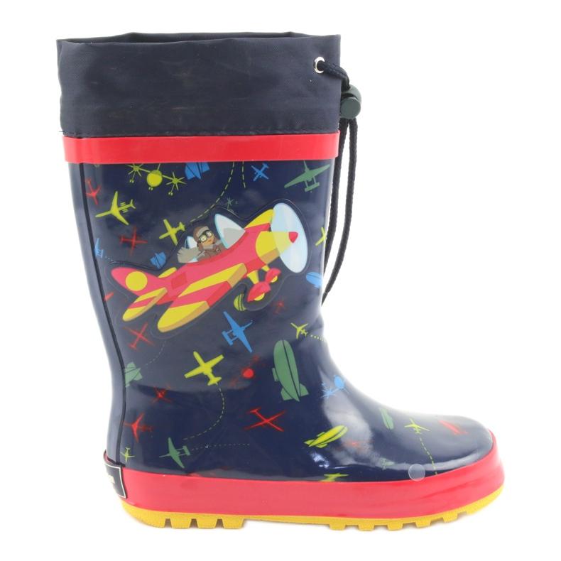 American Club Botas de chuva infantis American SamoLot vermelho azul marinho
