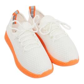 Calçado desportivo branco e laranja NB283 Fluorescence Orange