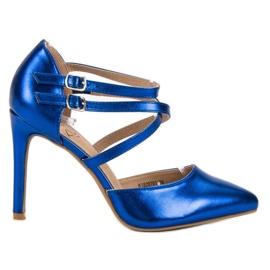 Kylie azul Studs de moda brilhante