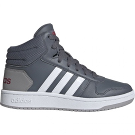 Cinza Sapatos adidas Hoops Mid 2.0 Jr EE6709