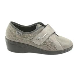 Sapatos femininos Befado pu 032D003 cinza