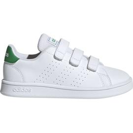 Branco Calçado Adidas Advantage C Jr EF0223
