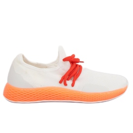 Calçado desportivo branco-laranja B-6851 Laranja