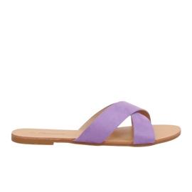 Chinelos femininos violeta 930 roxo tolet