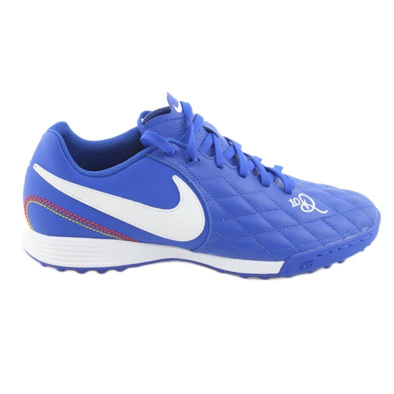 Sapatos de futebol Nike Tiempo Legend 7 Academia 10R Tf M AQ2218-410 azul