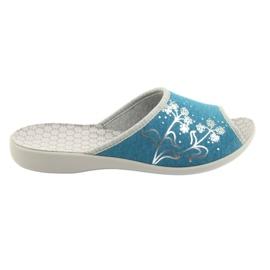 Sapatos femininos Befado pu 254D102 azul
