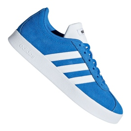 Azul Sapatos Adidas Vl Court 2.0 Jr F36376