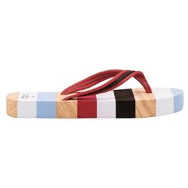 Ax Boxing Flip-flops na plataforma multicolorido