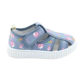 American Club Sapatos infantis americanos com couro de velcro