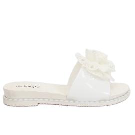Branco 38822 chinelos femininos brancos