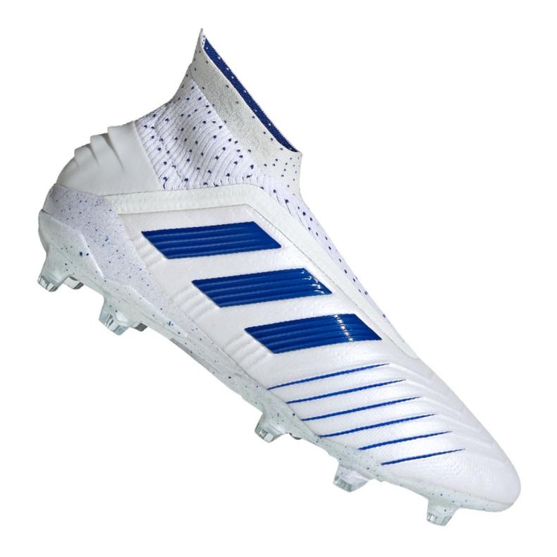 Chuteiras de futebol adidas Predator 19+ Fg M BC0548 branco branco