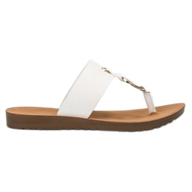 Branco Flip-flops à moda de VINCEZA
