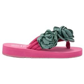SHELOVET Flip-flops leves com flores -de-rosa
