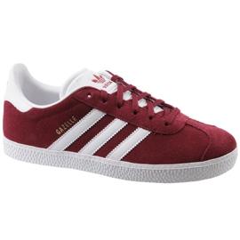 Adidas Gazelle Jr CQ2874 sapatos vermelhos