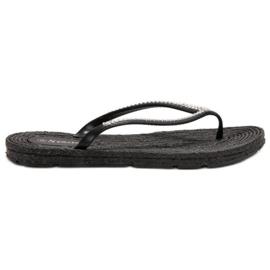Seastar preto Flip-flops com zircões
