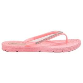 Seastar -de-rosa Flip-flops com zircões
