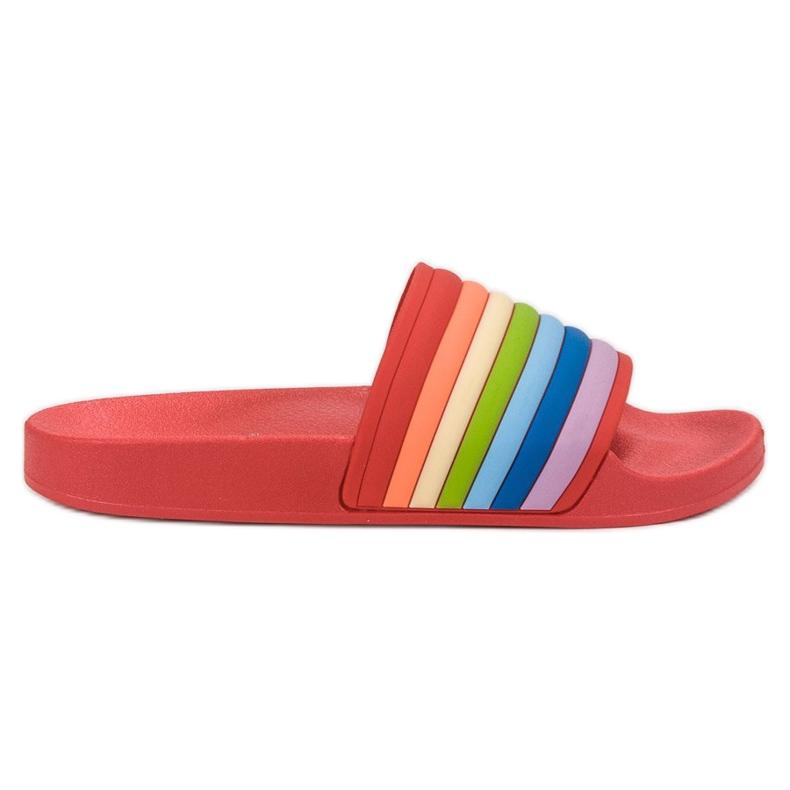 Sweet Shoes Chinelos de borracha coloridos vermelho multicolorido
