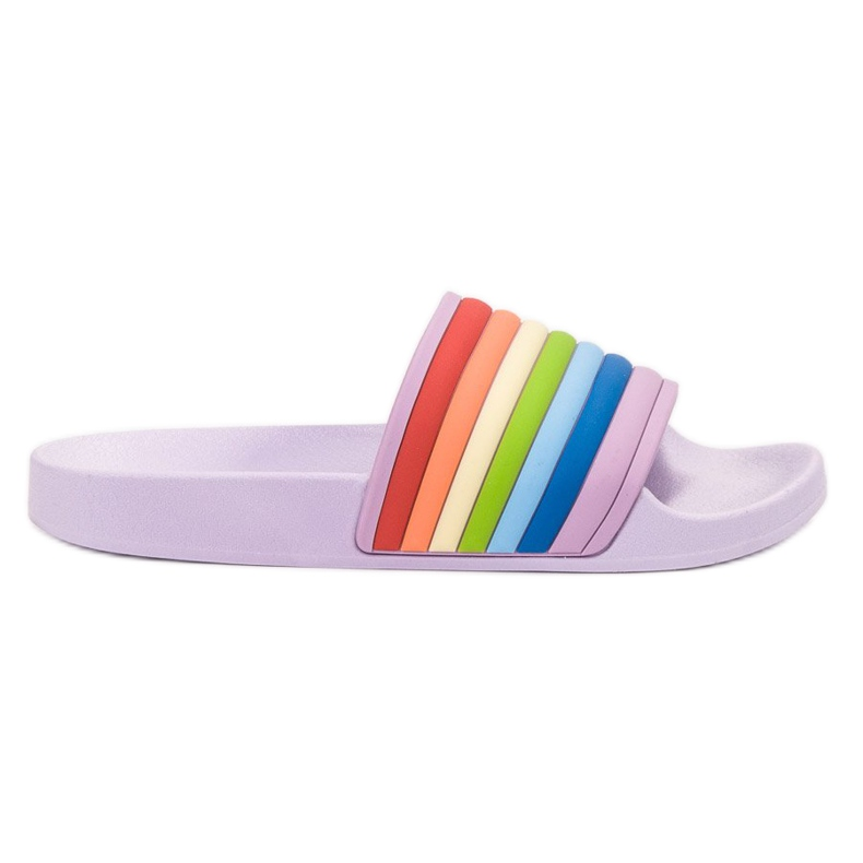 Sweet Shoes Chinelos de borracha coloridos tolet multicolorido