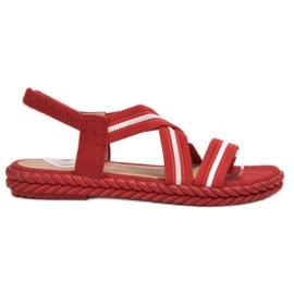 Seastar Sandálias Femininas Confortáveis vermelho