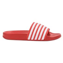 SHELOVET vermelho Esportes chinelos com cintos
