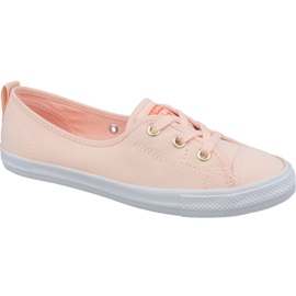 Chuck Converse Taylor All Star Ballet Rendas Slip 564313C sapatos laranja